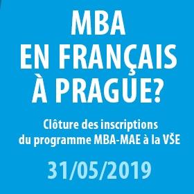 Prodloužení uzávěrky přihlášek do programu MBA-MAE do 31.5.2019