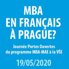 Den otevřených dveří  programu MBA v úterý 19.5. můžete absolvovat on-line i prezenčně od 17,00