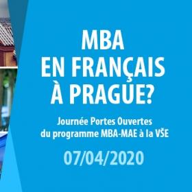 Dny otevřených dveří programu MBA_Master Management et Administration des Entreprises 7.4., 19.5. a 9.6.