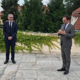 Kulturní rada a ředitel IFP pan Luc Lévy končí svoji misi v České republice